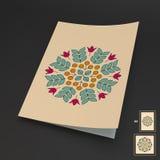 Éléments floraux Maquette de manuel, de livret ou de carnet Image libre de droits