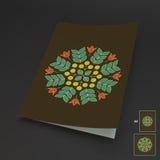Éléments floraux Maquette de manuel, de livret ou de carnet Conception traditionnelle de l'Orient Modèle de dentelle Illustration Photographie stock libre de droits