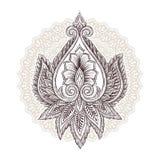Éléments floraux ornementaux illustration libre de droits