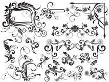 Éléments floraux pour la conception Images stock