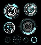 Éléments futuristes de design de l'interface d'utilisateur de vecteur illustration stock