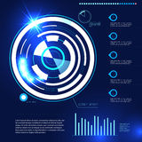 Éléments futuristes de design de l'interface d'utilisateur de vecteur illustration libre de droits