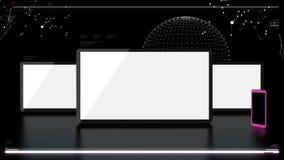 Éléments futuristes de télécommunication Image stock