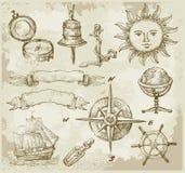 Éléments géographiques de conception illustration de vecteur