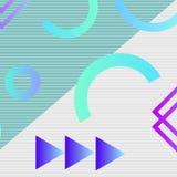 Éléments géométriques à la mode Memphis Pattern illustration de vecteur