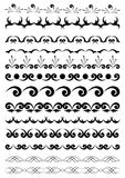 Éléments géométriques noirs pour la conception Photos stock