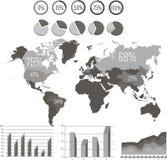 Éléments graphiques d'infos dans le vecteur Photo libre de droits