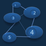 Éléments graphiques de fond d'infos de chimie Image libre de droits