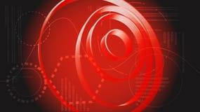Éléments graphiques numériques de HUD de technologie énergétique moderne abstraite rouge d'une future interface virtuelle d'inter illustration de vecteur
