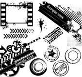 Éléments grunges de conception illustration de vecteur
