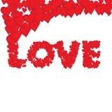 Éléments heureux de jour de valentines et de conception de sarclage Photos libres de droits