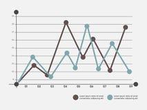 Éléments infographic créatifs pour des affaires Photo stock