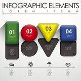 éléments infographic de la géométrie 3d illustration stock