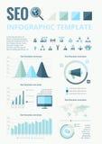Éléments infographic de media social Images libres de droits