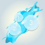Éléments infographic en verre avec l'éclaboussure de l'eau illustration libre de droits