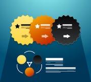 Éléments infographic modernes : fait un pas les collants Images libres de droits
