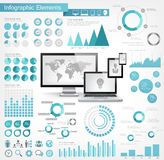 Éléments informatiques d'Infographic d'industrie