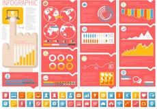 Éléments informatiques d'Infographic d'industrie illustration de vecteur