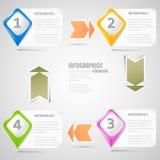 Éléments initiaux d'Infographics Photo stock