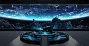 Éléments intérieurs du rendu 3D de vaisseau spatial de piste d'atterrissage de ceci I Image libre de droits