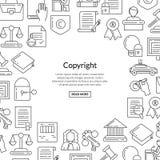 Éléments linéaires de copyright de style de vecteur Photo libre de droits