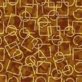 Éléments métalliques de fil d'or, fond abstrait dans la conception 3d illustration stock