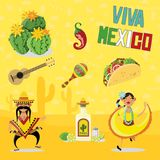 Éléments mexicains Image stock