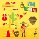 Éléments mexicains Photographie stock