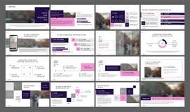Éléments minimalistes de calibres de présentation sur un fond blanc Photos libres de droits