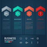 Éléments modernes d'infographics de flèche Calibre infographic de concept réussi d'affaires illustration libre de droits