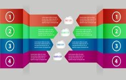 Éléments modernes d'infographics de vecteur comme flèche canette illustration de vecteur