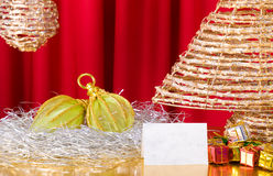Éléments modernes de Noël Photos libres de droits