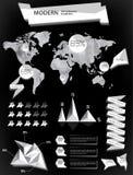Éléments modernes des graphiques d'infos Images stock
