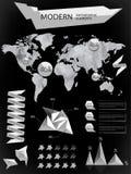 Éléments modernes des graphiques d'infos Photographie stock