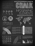 Éléments modernes des graphiques d'infos Images libres de droits