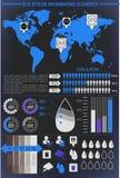 Éléments modernes des graphiques d'infos Photographie stock libre de droits