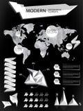 Éléments modernes des graphiques d'infos Photos stock