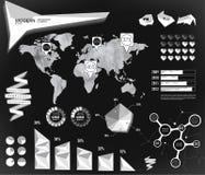 Éléments modernes des graphiques d'infos Photo libre de droits