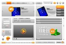 Éléments modernes gris de conception de site Web illustration libre de droits