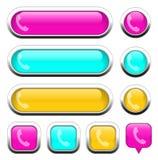 Éléments multicolores de conception de téléphone Photo stock
