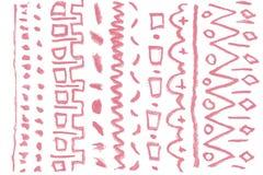 Éléments naturels de conception d'art de pommade de rouge à lèvres Photo stock