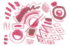 Éléments naturels de conception d'art de pommade de rouge à lèvres Photos libres de droits