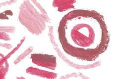 Éléments naturels de conception d'art de pommade de rouge à lèvres Photographie stock