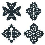 Éléments noirs et blancs images stock