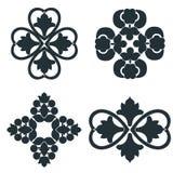 Éléments noirs et blancs illustration de vecteur