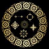 Éléments ornementaux géométriques d'or de vecteur illustration de vecteur