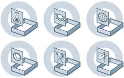 Éléments P. 4e de conception Images libres de droits
