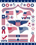 Éléments patriotiques américains Photographie stock libre de droits
