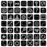 Éléments peu précis de conception d'ordinateur de graphisme de Web de griffonnage Photographie stock libre de droits