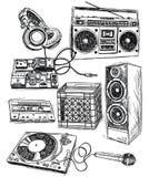 Éléments peu précis de musique illustration stock